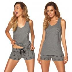 Piżama damska Emily Rossli Szara homewear