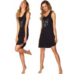 Koszula nocna Fiona Rossli Czarna Homewear