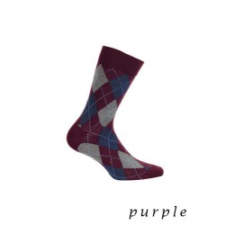 Skarpety męskie Perfect Man W491 - Purple