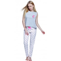 Piżama damska Unicorn Sensis Homewear szara