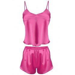 Komplet piżama damska Karen Pink satyna