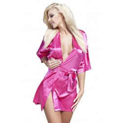 Peniuar szlafrok damski Scarlett 90 Pink satyna