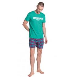 Piżama męska Lid Zielono-Niebieska Henderson