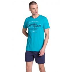 Piżama męska Laze Niebieska-Granat Henderson