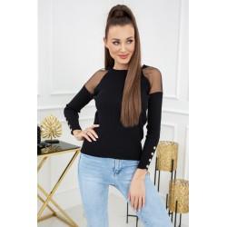 Sweterek Eliza Tulle MCY02679 Black