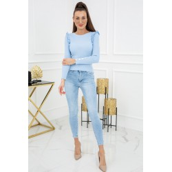 Sweterek Cindy Gold Buttons MCY02693 Baby Blue
