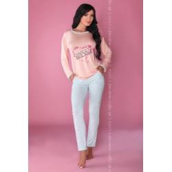 Piżama Sweet Dreaming 107 Różowo-niebieska