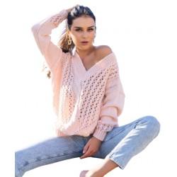 Sweter damski Nicaia Peach Merribel