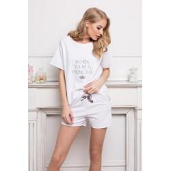 Piżama damska Princess Short White Aruelle