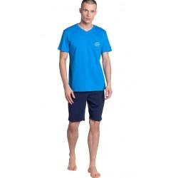Piżama męska Dodge Henderson Niebieska-Granat