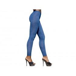 Getry 3 - Długie elastyczne legginsy damskie, jeansowe