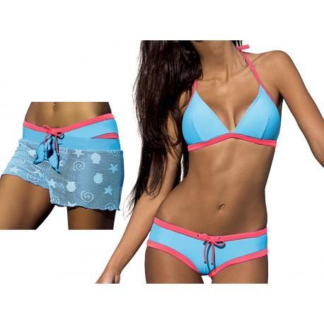 Strój kąpielowy trzyczęściowy sportowy bikini fitness L-1165 v.2 LUCY