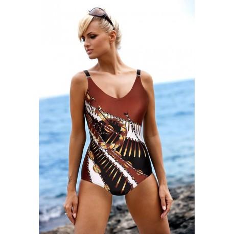 Strój kostium kąpielowy L-7165 v.25 BRENDA jasno-brązowy