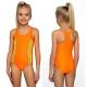 Strój kąpielowy jednoczęściowy dla dziewczynki dziewczęcy DB-1 pomarańczowy