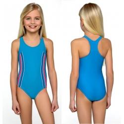 Strój kąpielowy jednoczęściowy dla dziewczynki dziewczęcy DB-1 niebieski