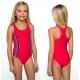 Strój kąpielowy jednoczęściowy dla dziewczynki dziewczęcy DB-1 czerwony