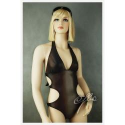 Kostium kąpielowy jednoczęściowy Monokini (brąz hologram)