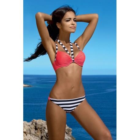 Strój kąpielowy dwuczęściowy bikini push-up L-5357 v.1 DARLA, koral
