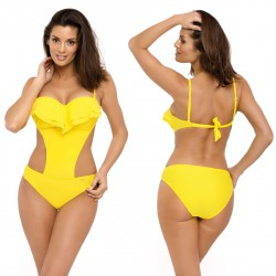 Kostium kąpielowy M-548/15 strój monokini żółty