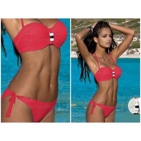 Strój kąpielowy dwuczęściowy bikini push-up L-5320 v.3 KAREN, czerwony
