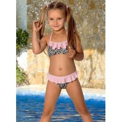Strój kąpielowy dwuczęściowy bikini dla dziewczynki dziewczęcy L-37