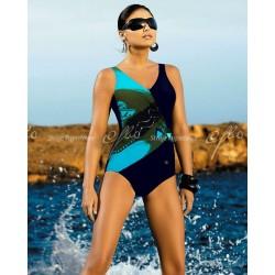 Kostium kąpielowy Rivage 029 granatowo-turkusowy