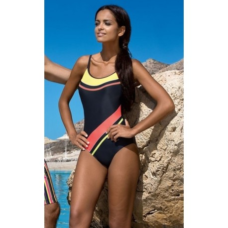 Strój kostium kąpielowy L-7131 v.6  LO-18 grafit + kolory
