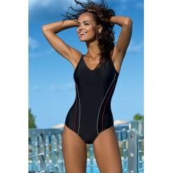 Strój kąpielowy jednoczęściowy basenowy sportowy L-4110 v.1 LO-29, czarny