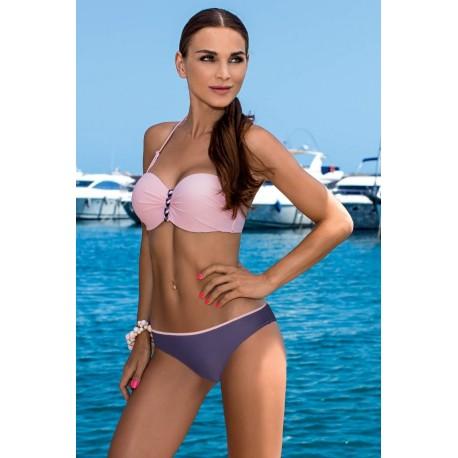 Strój kostium kąpielowy bikini push-up L-3210 v.1 ALMA, róż z fioletem