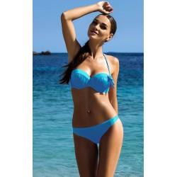Strój kostium kąpielowy bikini push-up L-3185 v.2 DONATA, niebieski