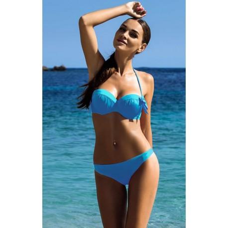 Strój kostium kąpielowy L-3185 v.2 DONATA błękitny