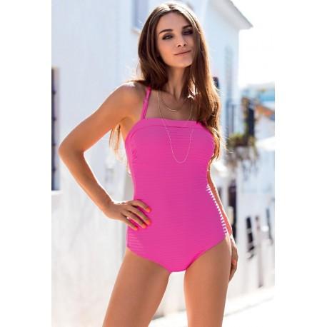 Strój kostium kąpielowy L-7329 v.1 IRENE różowy