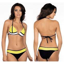 Strój kąpielowy dwuczęściowy bikini push-up L-1011/6 v.1, żółty