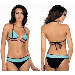 Strój kąpielowy dwuczęściowy bikini push-up L-1011/6 v.2, miętowy