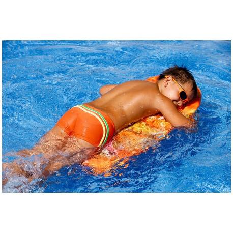 Kąpielówki spodenki bokserki dla chłopca chłopięce CB-7, pomarańczowe