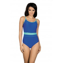 Kostium kąpielowy jednoczęściowy basenowy sportowy L-7341 Delfina, niebieski