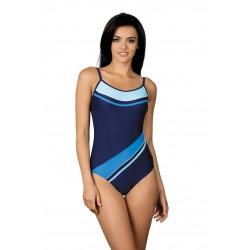 Strój kostium kąpielowy basenowy sportowy L-7131 v.2 LO-18 granat z niebieskim