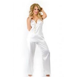 Piżama komplet satyna HAITI kremowa