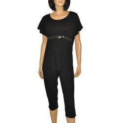 Piżama De Lafense 448 Julie kr/r S-2XL