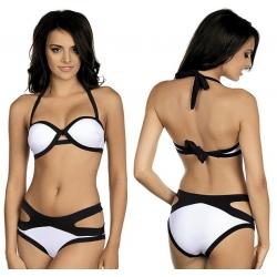 Strój kąpielowy dwuczęściowy bikini push-up L-5423 v.3 LAMA, biały
