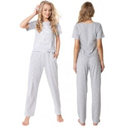 Piżama damska Hearty Long Grey Aruelle Homewear