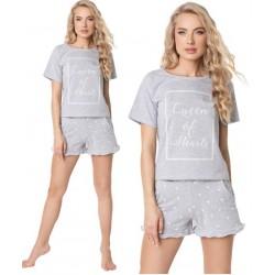 Piżama damska Hearty Short Grey Aruelle