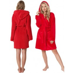 Szlafrok damski Betty Red Aruelle Homewear