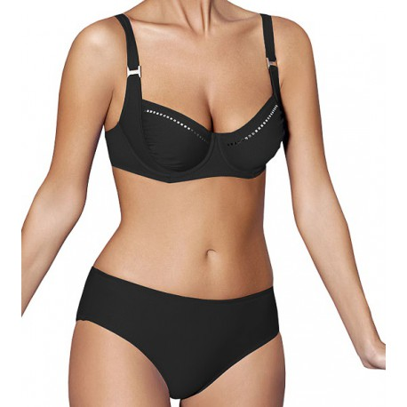 Strój kąpielowy dwuczęściowy bikini na fiszbinach L-6116 GRAN CANARIA, czarny