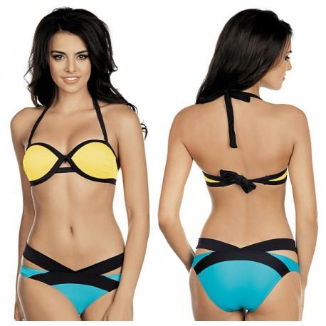 Strój kąpielowy dwuczęściowy bikini push-up L-5383 v.2