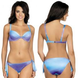 Strój kąpielowy dwuczęściowy bikini push-up L-5405 v.1 ALEKSANDRA, niebieski ombre