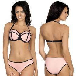 Strój kąpielowy dwuczęściowy bikini push-up L-3203 v.1 CLARIS, łososiowy