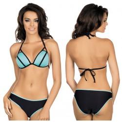 Strój kąpielowy dwuczęściowy bikini push-up L-1012/6 v.2, miętowy