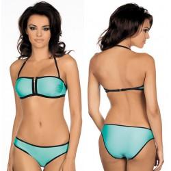Strój kąpielowy dwuczęściowy bikini push-up L-2043/6 v.2, miętowy