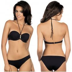 Strój kąpielowy dwuczęściowy bikini push-up L-2045/6 v.1, czarny